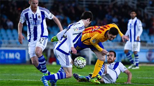 Real Sociedad 1 - 0 Barcelona (Tây Ban Nha 2015-2016, vòng 32)