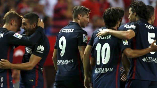 Sevilla 0 - 3 Atletico Madrid (Tây Ban Nha 2015-2016, vòng 2)