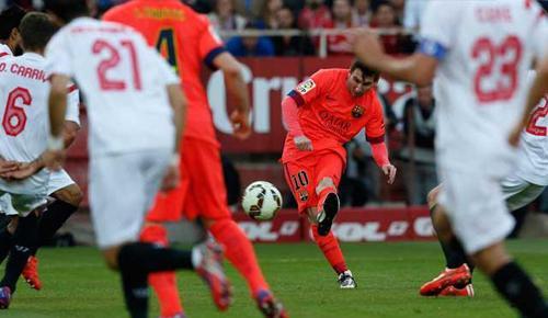 Sevilla 2 - 2 Barcelona (Tây Ban Nha 2014-2015, vòng 31)