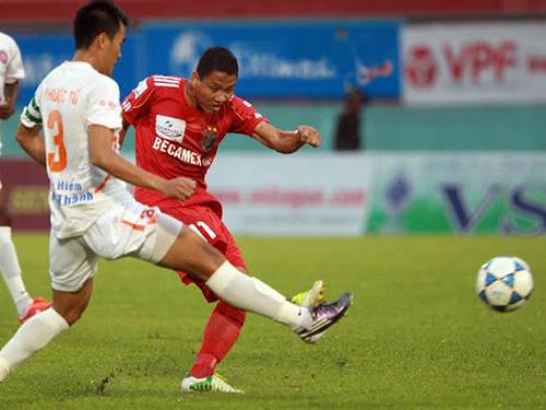 Becamex Bình Dương 1 - 2 Quảng Ninh (Việt Nam 2015, vòng 5)