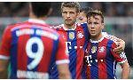Bayern Munich 4 - 0 Hoffenheim (Đức 2014-2015, vòng 12)