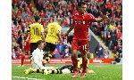 Liverpool 4 - 0 Borussia Dortmund (Giao Hữu 2014, vòng tháng 8)
